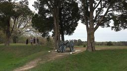 Yorktown Virginia cannon revolutionary war battlefield tourism 4K Footage