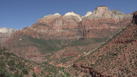 Zion National Park scenic valley road 4K Footage
