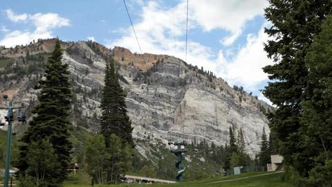 Zipline at mountain summer resort P HD 0813 Footage