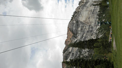 Zipline mountain resort verticle P HD 0815 Footage