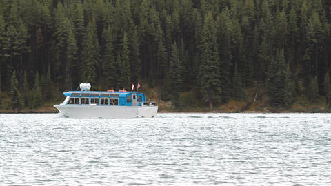 boat tour across lake P HD 1287 Footage