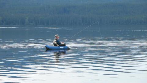 float tube fishing P HD 0154 Footage