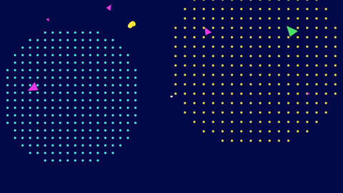 Motion abstract geometric shapes, colourful Memphis…, Stock Animation