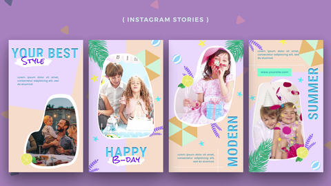 Instagram Stories: Baby Birthday After Effects Template