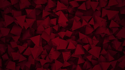 Motion red dark geometric shapes, abstract background Animation