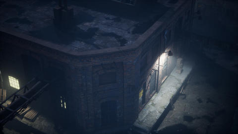 Aerial view of Old factory Live Action