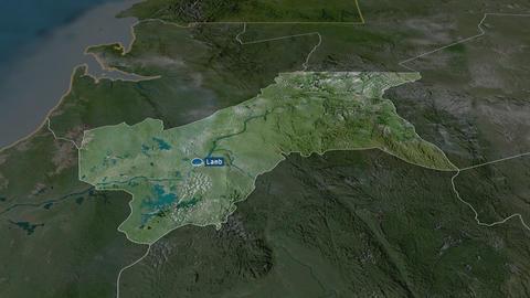 Moyen-Ogooué - province of Gabon. Satellite Animation