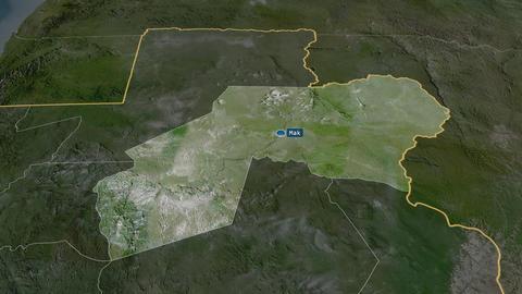 Ogooué-Ivindo - province of Gabon. Satellite Animation