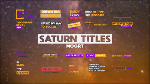Saturn Titles Pack MOGRT Motion Graphics Template