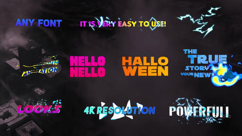 Creative Colorful Titles After Effects Template