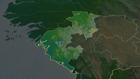 Boké - region of Guinea. Physical Animation