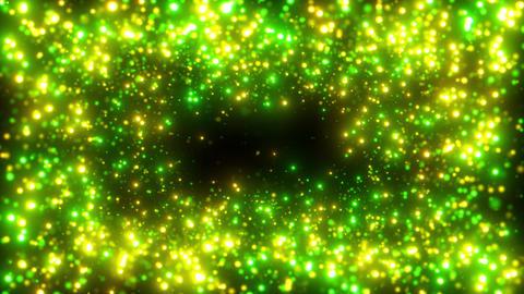 画面枠キラキラパーティクル 緑黄 CG動画