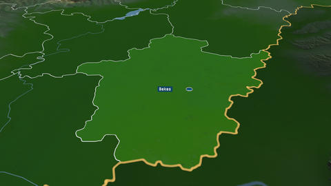 Bekes - county of Hungary. Physical Animation