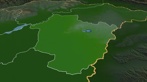 Hajdú-Bihar - county of Hungary. Physical Animation