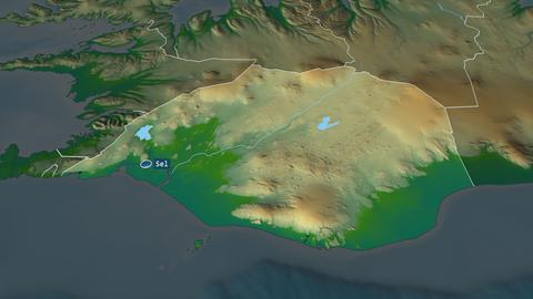 Suðurland - region of Iceland. Physical Animation