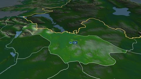 Cavan - county of Ireland. Physical Animation