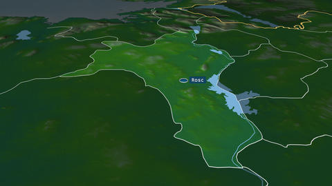 Roscommon - county of Ireland. Physical Animation
