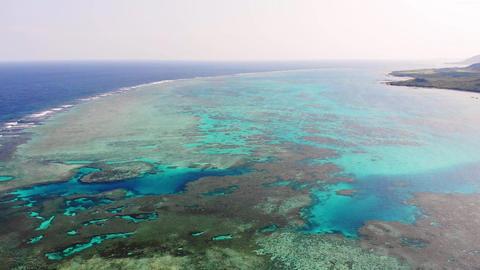 石垣島の秘境「浦崎」サンゴ礁の青い海、後進 ライブ動画