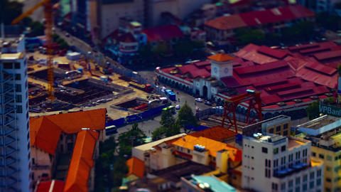 A timelapse of the miniature street at Ben Thanh market in Ho Chi Minh Vietnam GIF