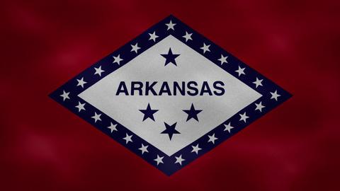 Arkansas dense flag fabric wavers, background loop Animation