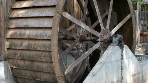 waterwheel hub turn P HD 1976 Footage