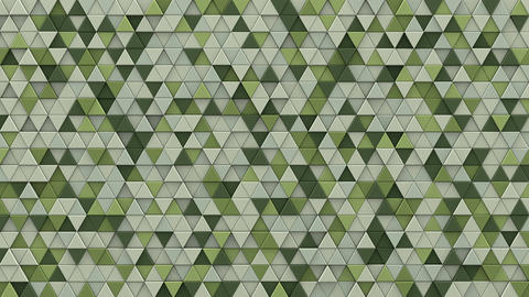 Pale green extruded triangles background 3D render loopable Animation
