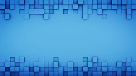 Blue squares and free space 3D render loopable animation Animation
