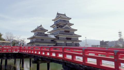Castle nagano matsumoto matsumotojyou V1-0152 Footage