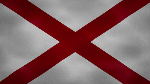 Alabama dense flag fabric wavers, background loop Animation