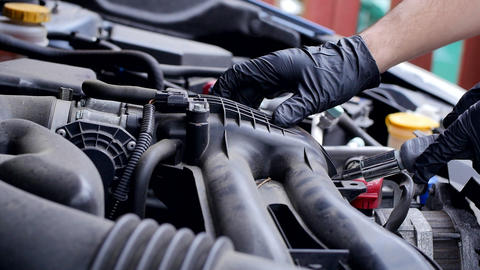 Car Engine Inspection and Service Live Action
