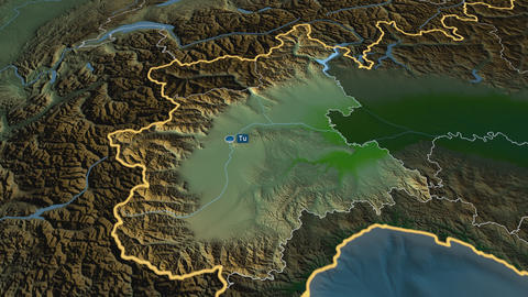 Piemonte - region of Italy. Physical Animation