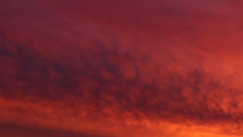 Apocalyptic red sky with clouds. Dramatic red sky Live Action