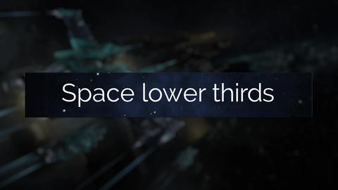 Space Lower Thirds After Effectsテンプレート