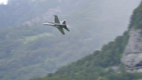 McDonnell Douglas F/A-18 Hornet of Swiss Air Force Looping - 4K Ultra HD Vide Live Action