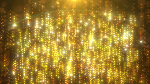 上から下 光の筋 パーティクル ゴールド CG動画