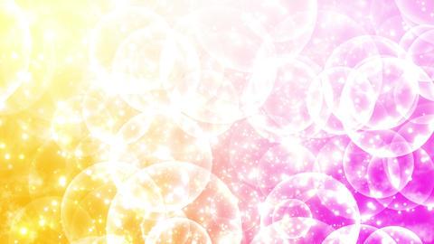 下から上に流れるフワフワ背景 黄 ピンク CG動画