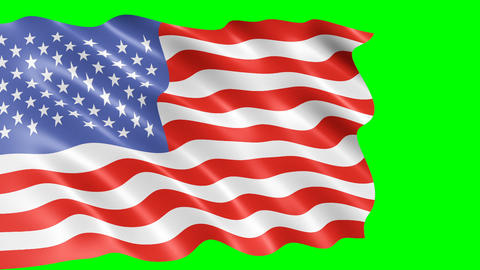 American flag waving in wind Animation