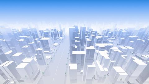 City Building Simple Modern Skyscraper business street background D1 sky 4k Animation