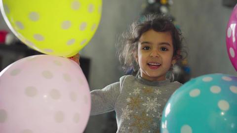 Children, celebration, birthday, large families, games and entertainment concept ライブ動画