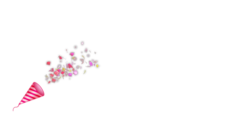 Party popper1-red Animation