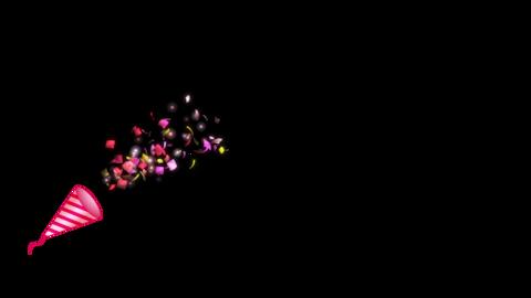 パーティークラッカー 赤 シングル CG動画