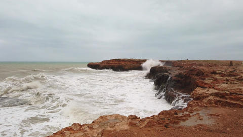 Extreme wave crashing coast, Big wave. Large Ocean Wave,Awesome power of giant Live Action