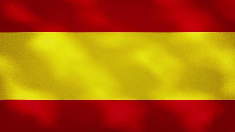 Spanish dense flag fabric wavers, background loop Animation