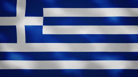 Greek dense flag fabric wavers, background loop Animation