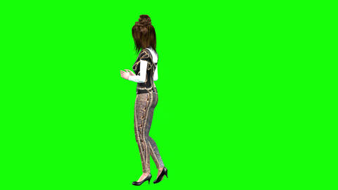 750 4k LOVE AVATAR girl waiting for boyfriend and does exercises Animation