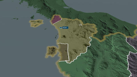 Kedah - state of Malaysia. Administrative Animation