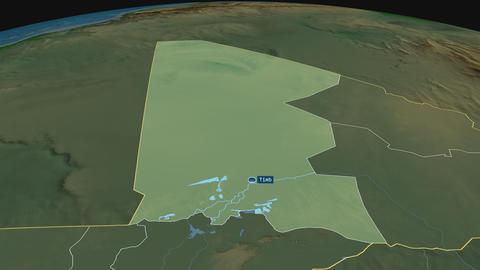 Timbuktu - region of Mali. Physical Animation