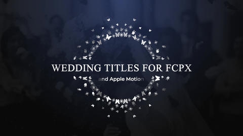 Wedding Titles 01 Apple Motion Template