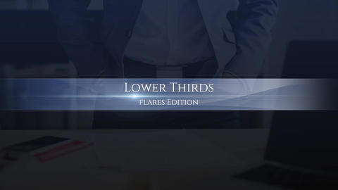 Lower Thirds Flares Premiere Pro Template