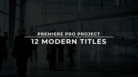 12 Modern Titles Plantillas de Motion Graphics